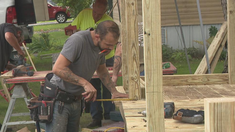 Veterans, Businesses Build Wheelchair Ramp For WW2 Vet
