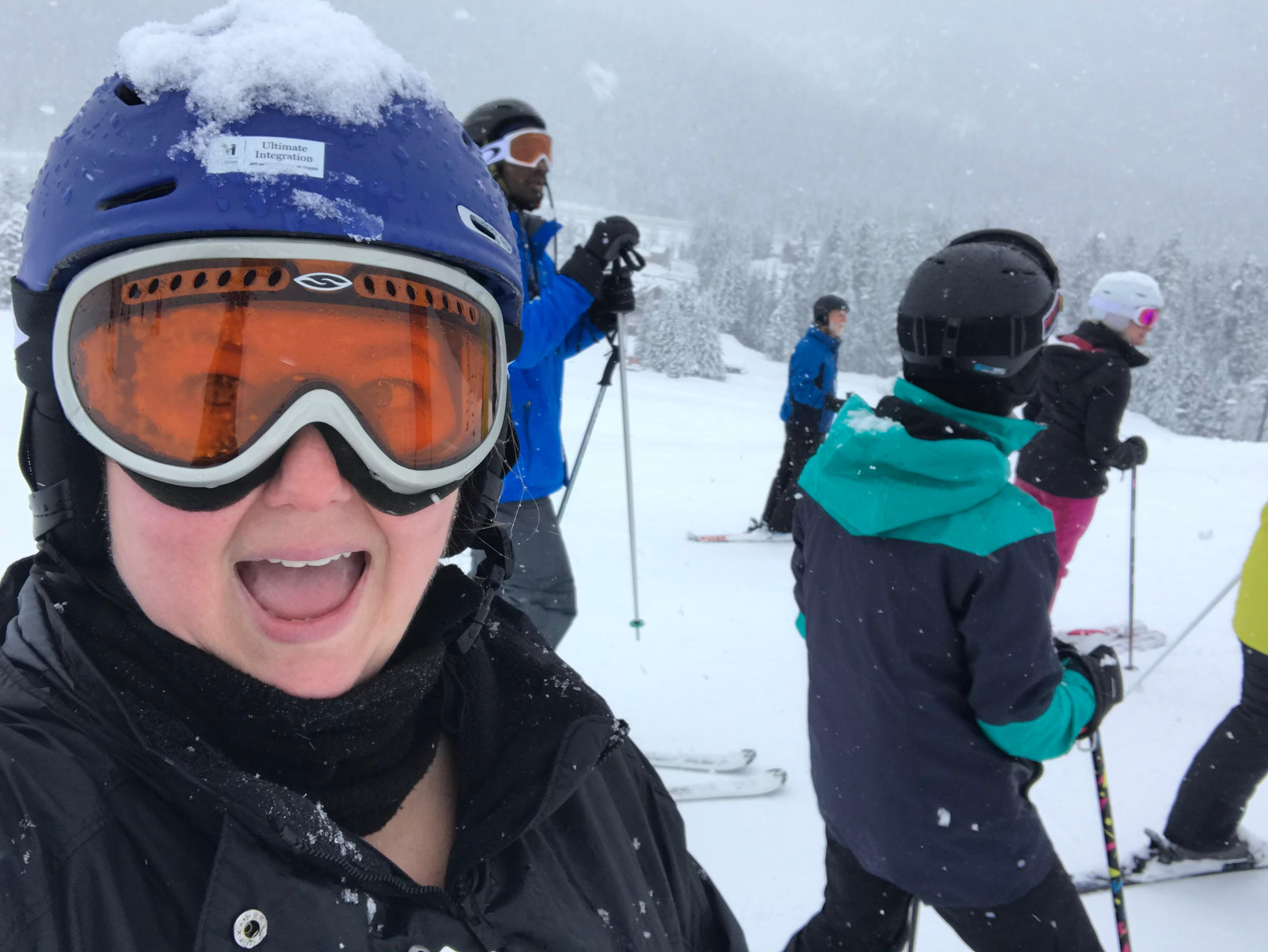 I was thrilled to be back on the slopes! (Image: Rebecca Mongrain/Seattle Refined)