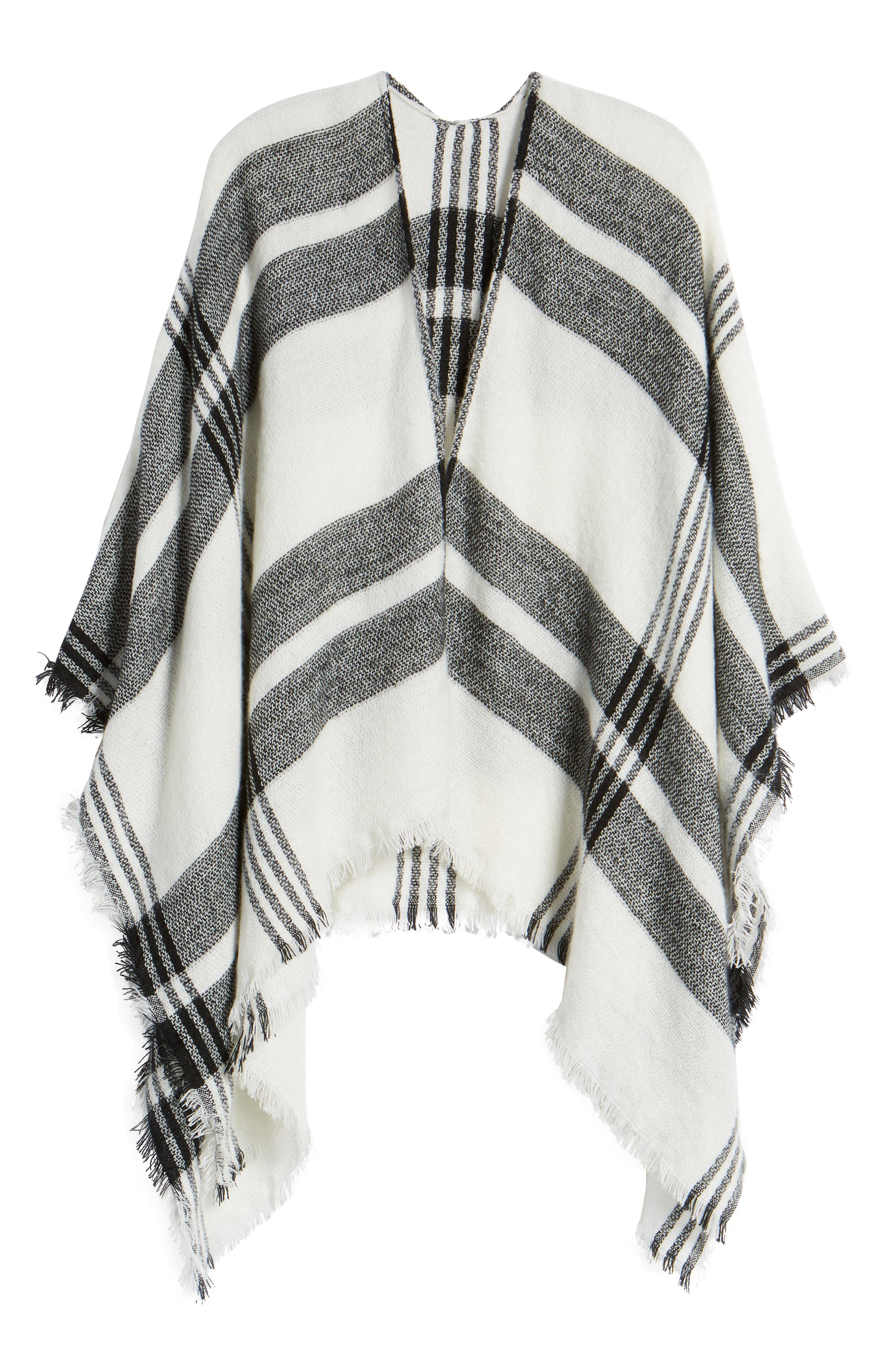 BP Plaid Ruana -- Sale: $25.90 / After Sale: $39{ }(Image: Courtesy Nordstrom)