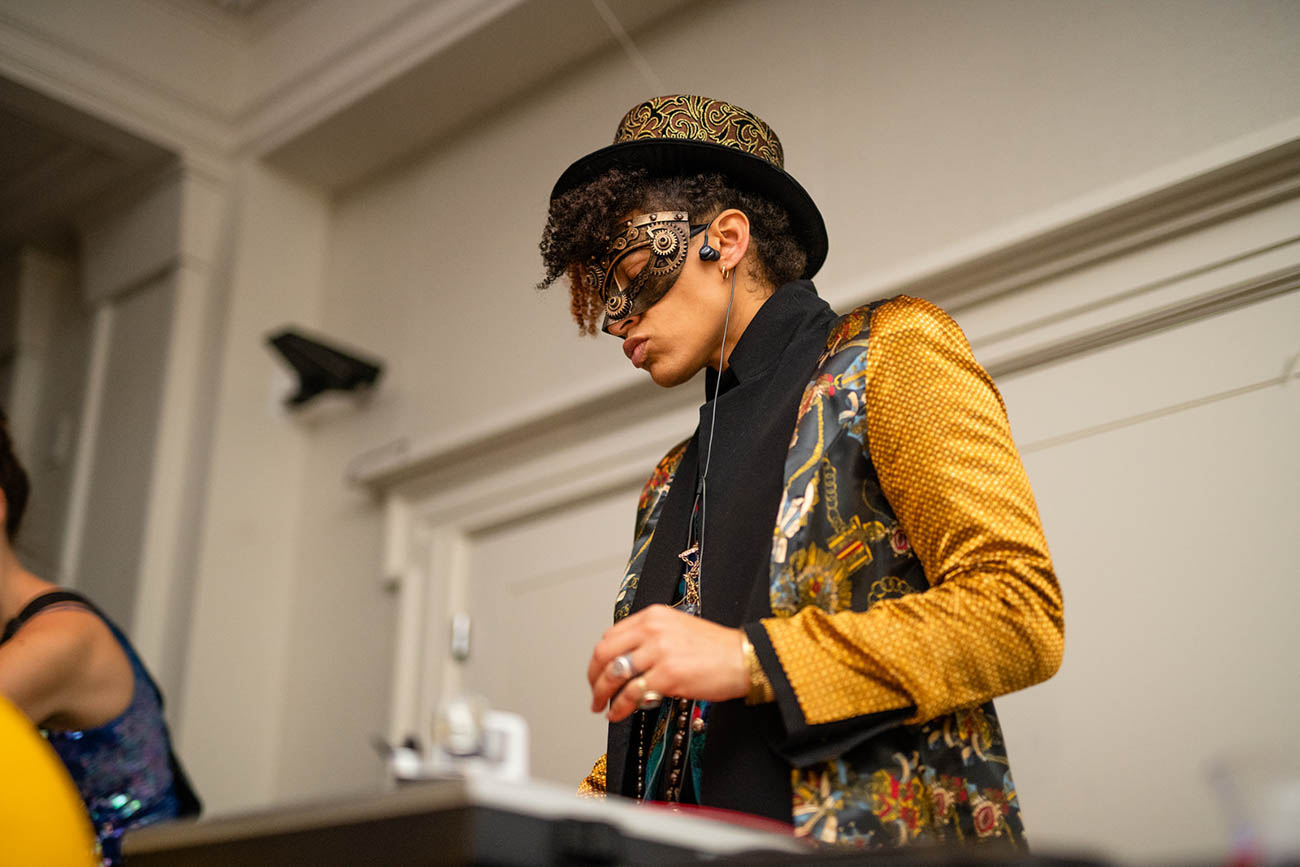 Even the DJ was dressed to the nines at the 21c Museum Hotel New Year's Eve party on Monday, December 31 / Image: Sam Greenhill, via 21c Museum Hotel // Published: 1.3.19