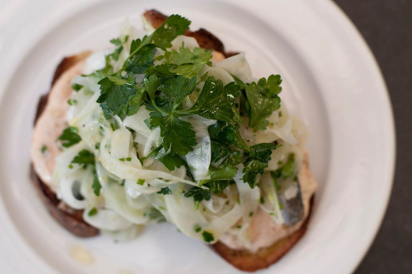 Move over, Avocado Toast! Sardine Toast is the new toast treat in town. You can head to this Ballard favorite during Happy Hour for their popular Martiz Sardines on toast with curried tomato mayo and shaved fennel. (Image Courtesy: The Whale Wins Facebook Page)