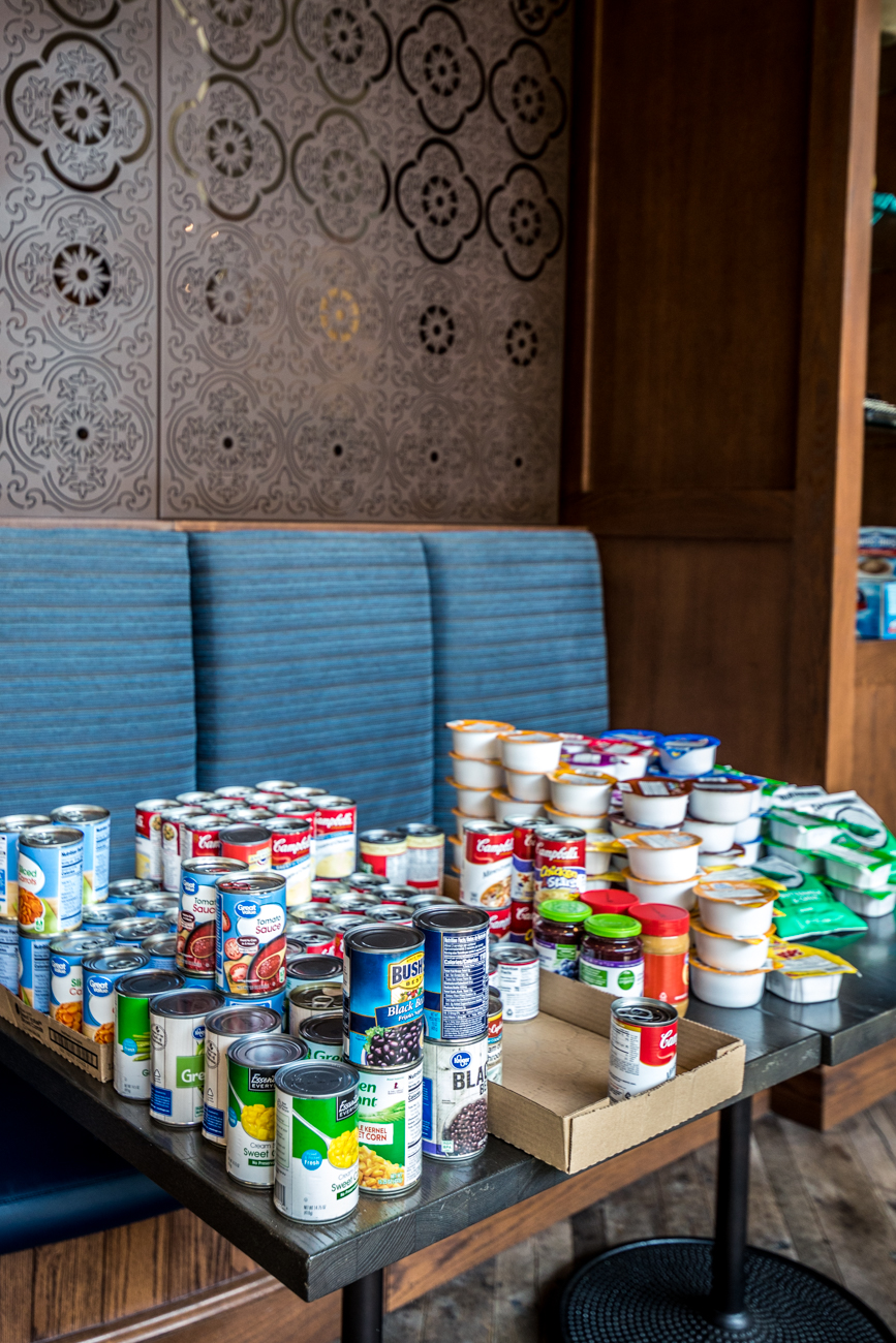 The program is donation-based. Some of the items they look for are diapers, baby food, feminine care supplies, toilet paper, canned goods, and other foods with a long shelf life. Items can be ordered online and shipped directly to the restaurant. For more information on food & supply donations, contact Caroline via email (reservations@mitas.com). / Image: Catherine Viox // Published: 3.29.20