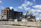 Demolition of the former Mirro building in Manitowoc continues Aug. 24, 2017.