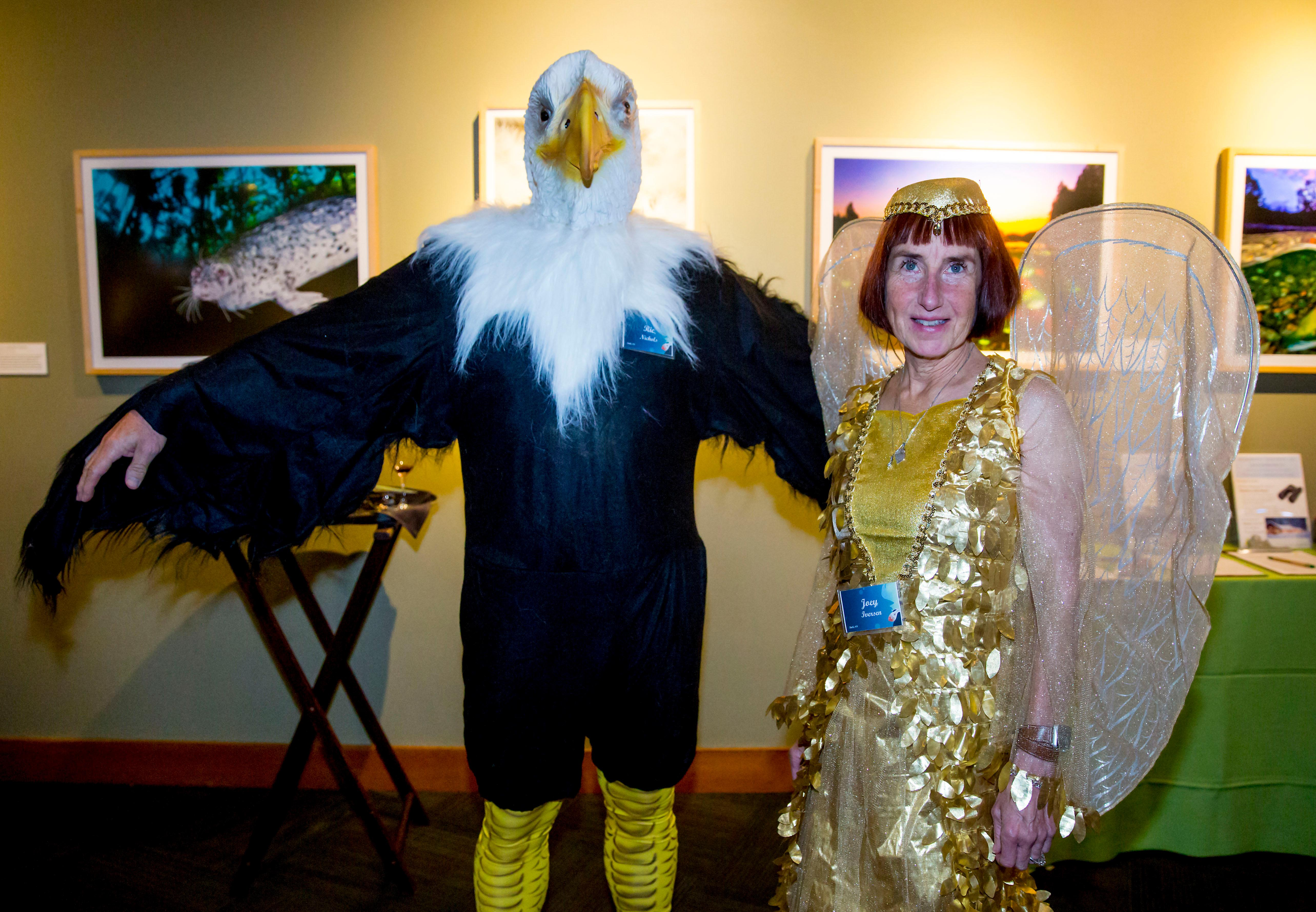 The Bird Ball is an annual event thrown by Seattle Audubon as a fundraiser to benefit birds and nature. This year's event was held Saturday October 21 at the Seattle Aquarium, and besides the wonderful masquerade costumes – was filled with live music, food, drink and a great time altogether.