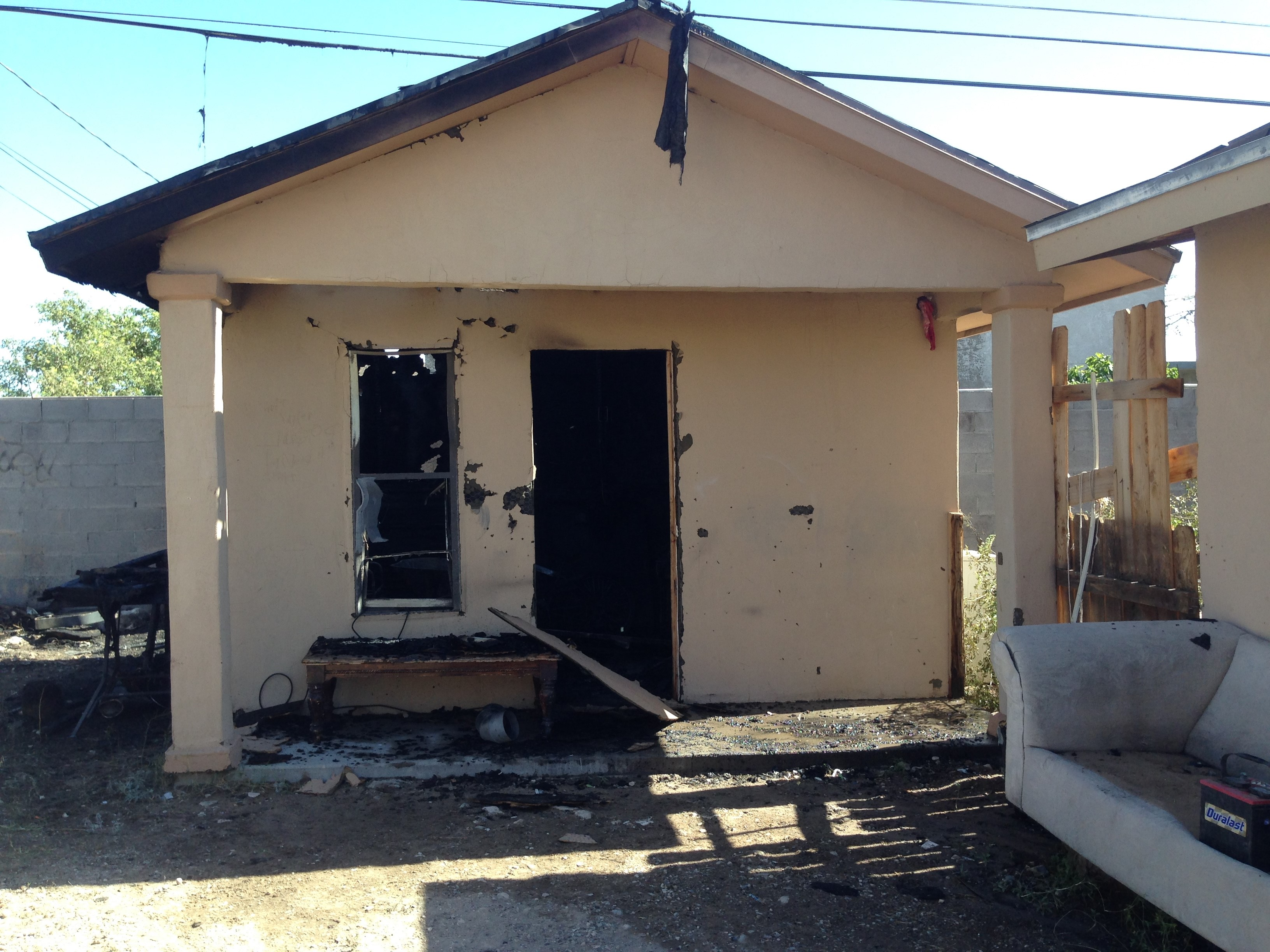 A fire was reported at a home in Westway Monday afternoon. (Credit: West Valley Fire Department)