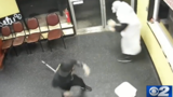 Salt Lake City pizza shop employees fight back against disguised pipe-wielding robber