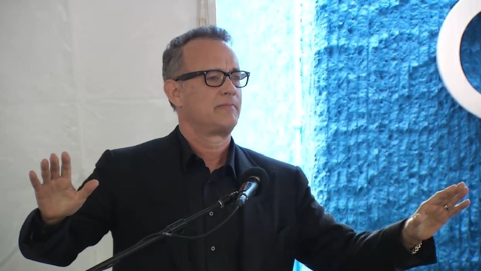 Tom Hanks dedicates building named in his honor at university to huge crowd