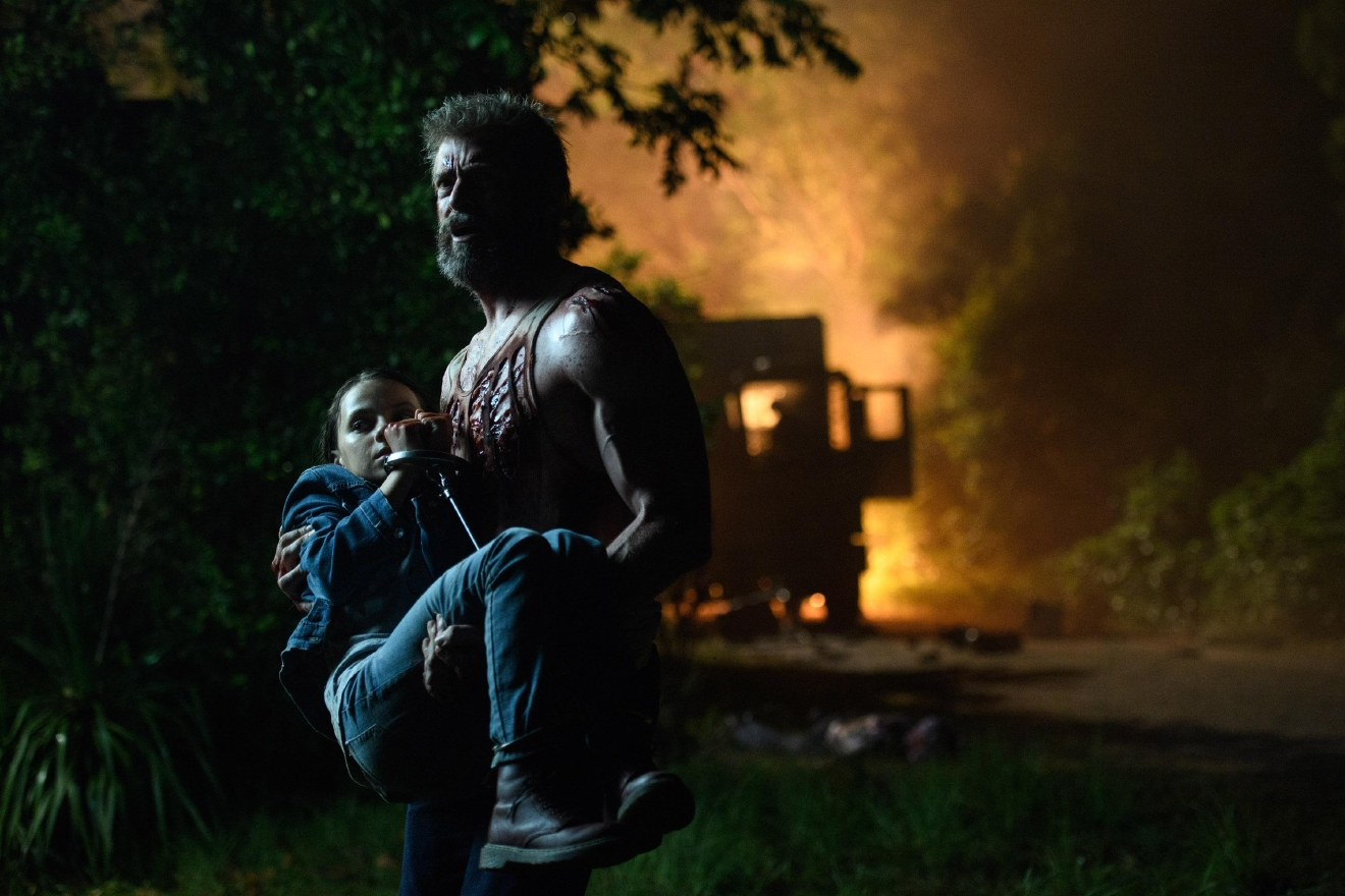 "Hugh Jackman as Logan/Wolverine and Dafne Keen as Laura in""Logan."" Photo: Ben Rothstein."