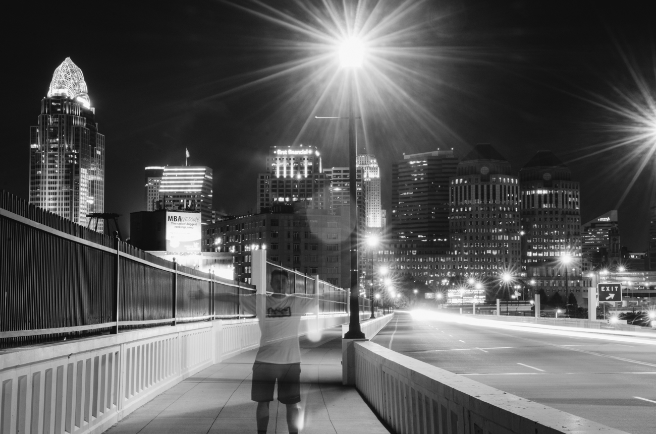 A bulb-mode 'selfie' from Columbia Parkway. August 9, 2014 / Image: Corey Stevens