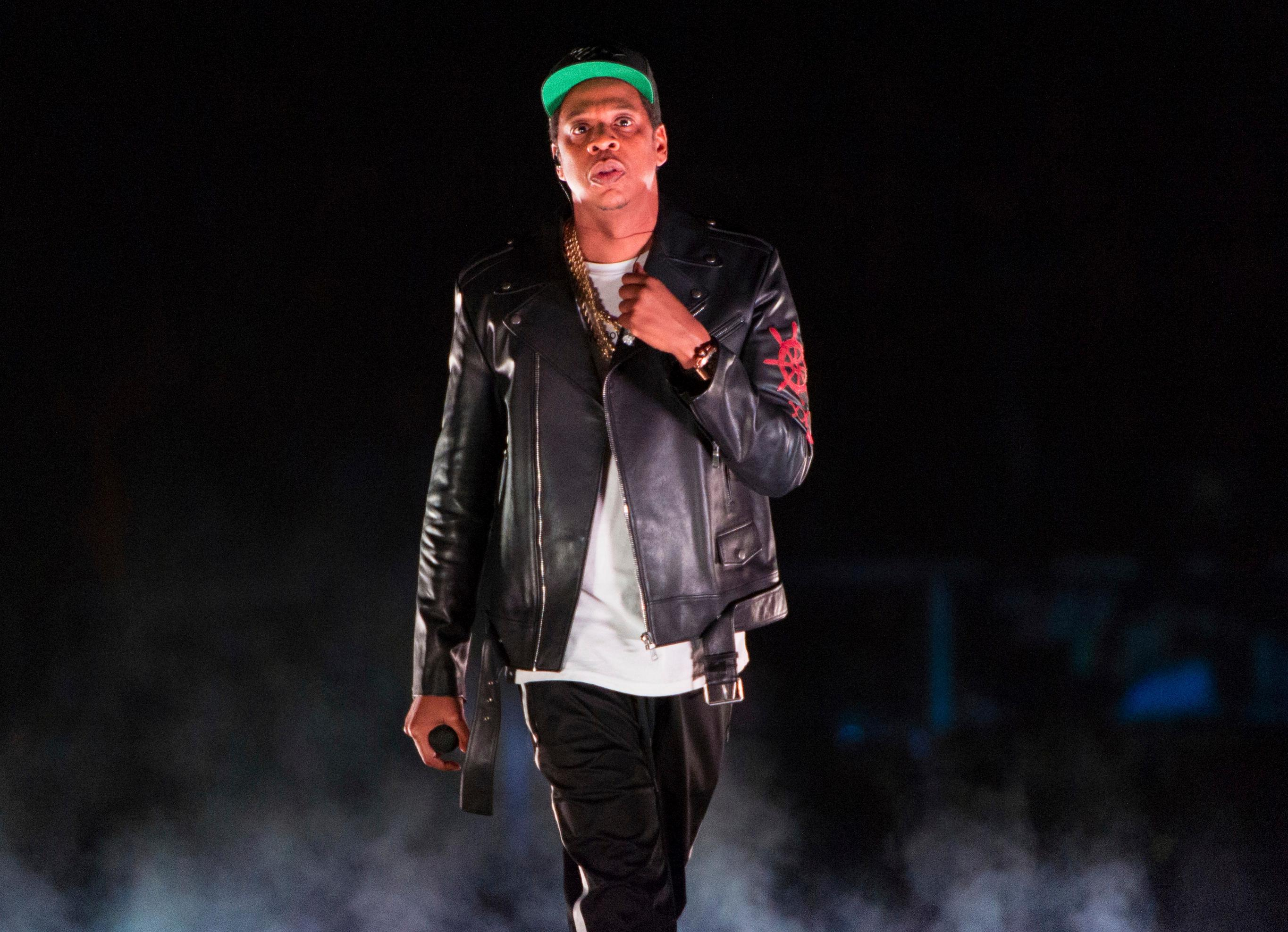 FILE - In this Nov. 26, 2017 file photo, Jay-Z performs on the 4:44 Tour at Barclays Center in New York. (Photo by Scott Roth/Invision/AP, File)
