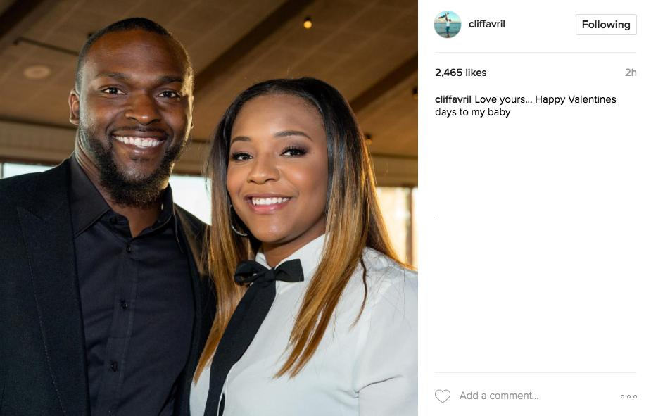 """Love yours...Happy Valentines days to my baby"" - Instagram @cliffavril"