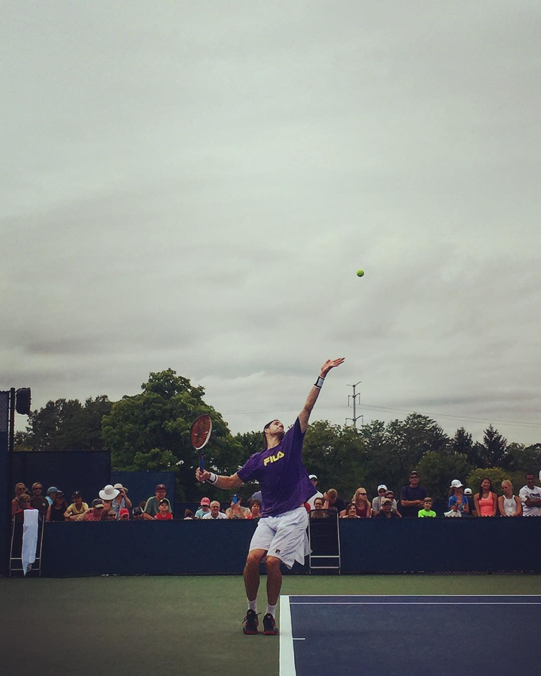 IMAGE: IG user @ajaosu / POST: Isner #cincytennis