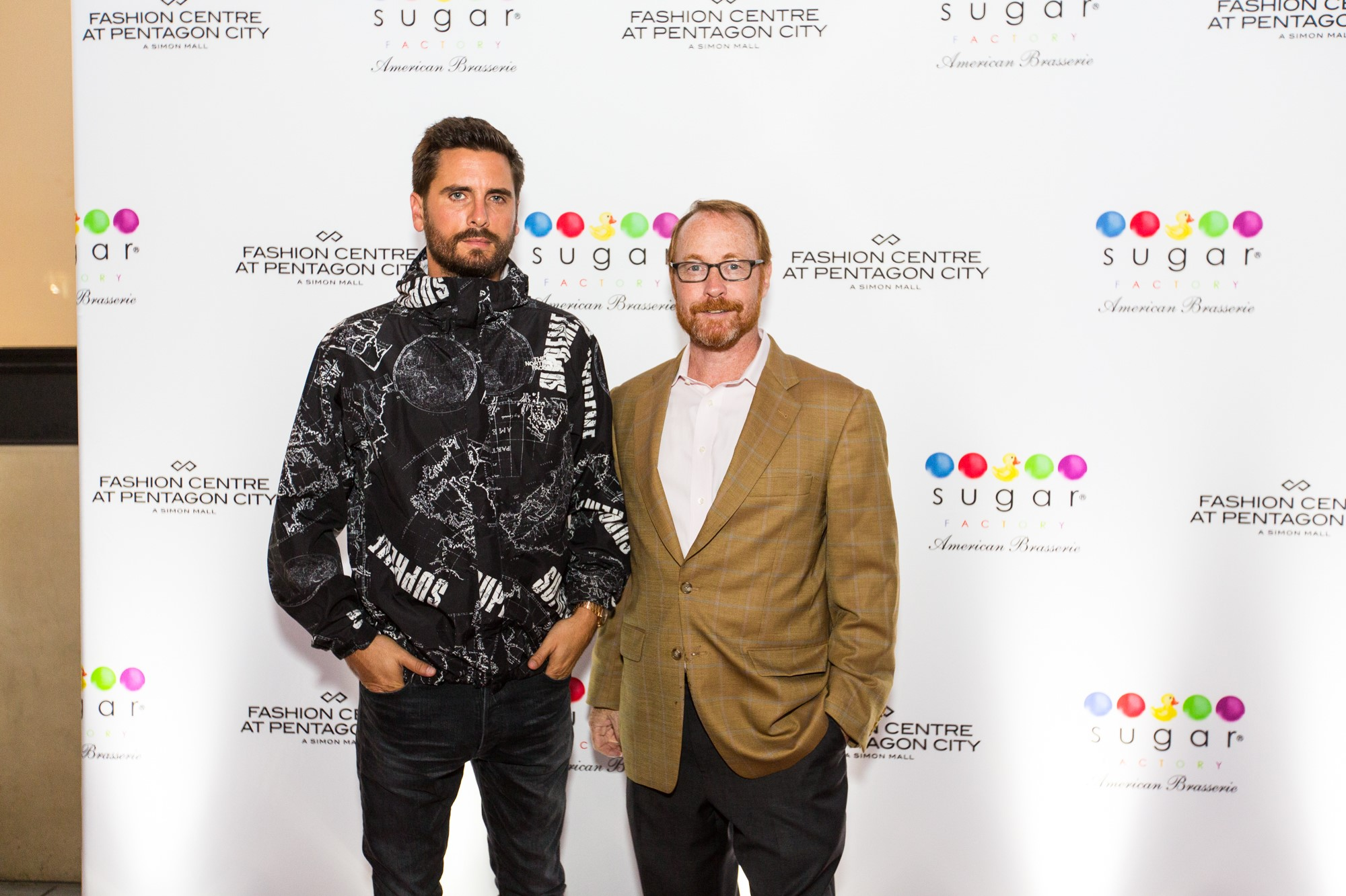 Scott Disick hosted the grand opening celebration of Sugar Factory American Brasserie's Fashion Centre at Pentagon City Mall location. (Image: John Robinson)<p></p>