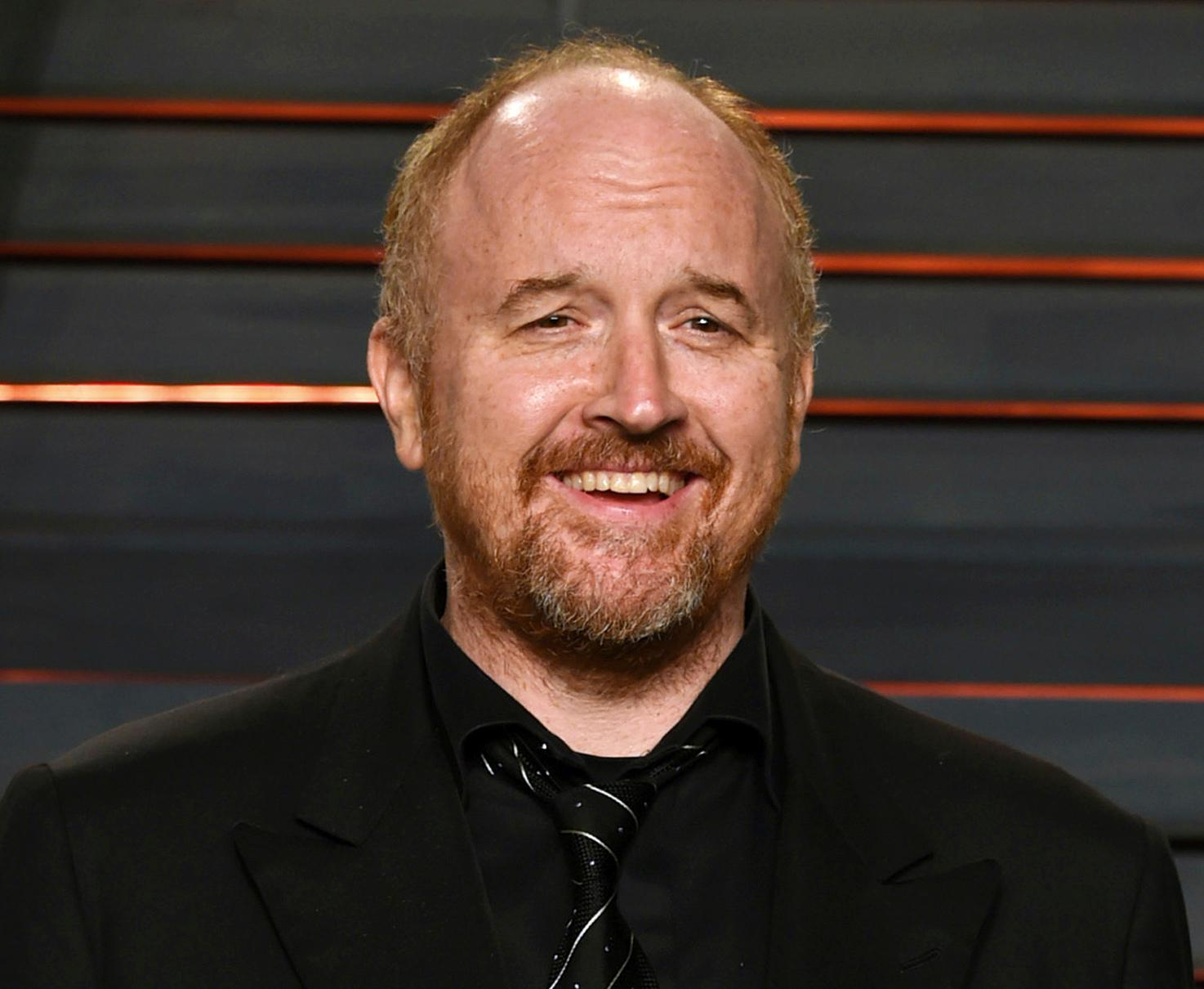 FILE - In this Feb. 28, 2016 file photo, Louis C.K. arrives at the Vanity Fair Oscar Party in Beverly Hills, Calif. (Photo by Evan Agostini/Invision/AP, File)<p></p>