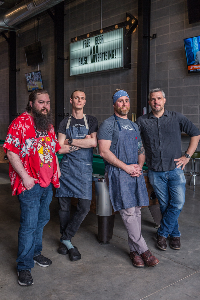Thomas Daily, Chef Ethen Greene, Daniel Wright, Mike Georgiton / Image: Catherine Viox // Published: 4.7.19