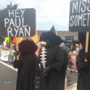 Dozens gather outside country club fundraiser to protest Paul Ryan