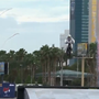 Travis Pastrana successfully jumps the Caesars fountain