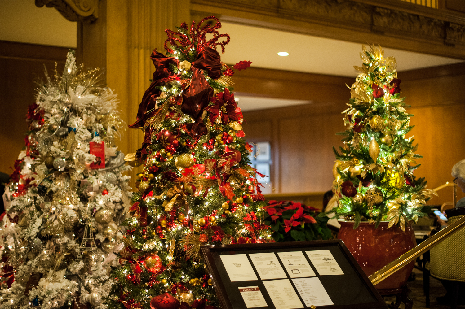 <p>Located in the Fairmont Olympic Hotel in downtown Seattle, the annual Festival of Trees has officially kicked off this holiday season. Patrons can view the trees on display through December 2, 2018 - or bid on them for their home/office. Proceeds benefit Seattle Children's Hospital. (Image: Elizabeth Crook / Seattle Refined)</p>