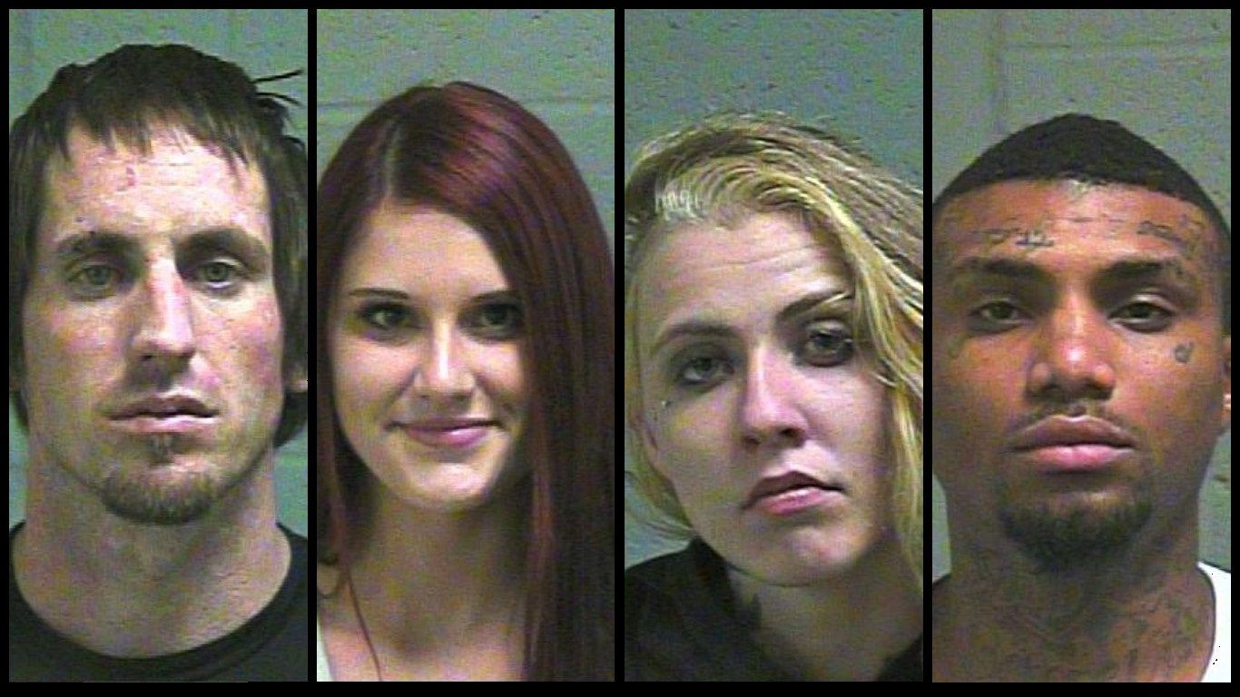 The four suspects taken into custody after a police pursuit on Thursday, Oct. 19, 2017.{&amp;nbsp;}(Oklahoma County Jail) <p></p>