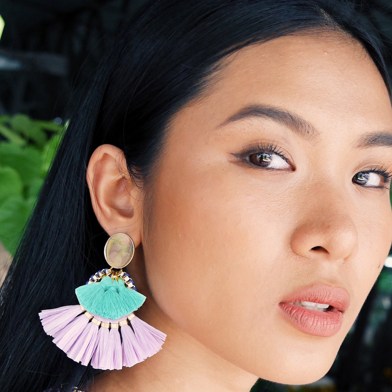 The Sarah Jessica earrings are inspired by the tropical hues of The Philippines. (Image: Clare Hynes)