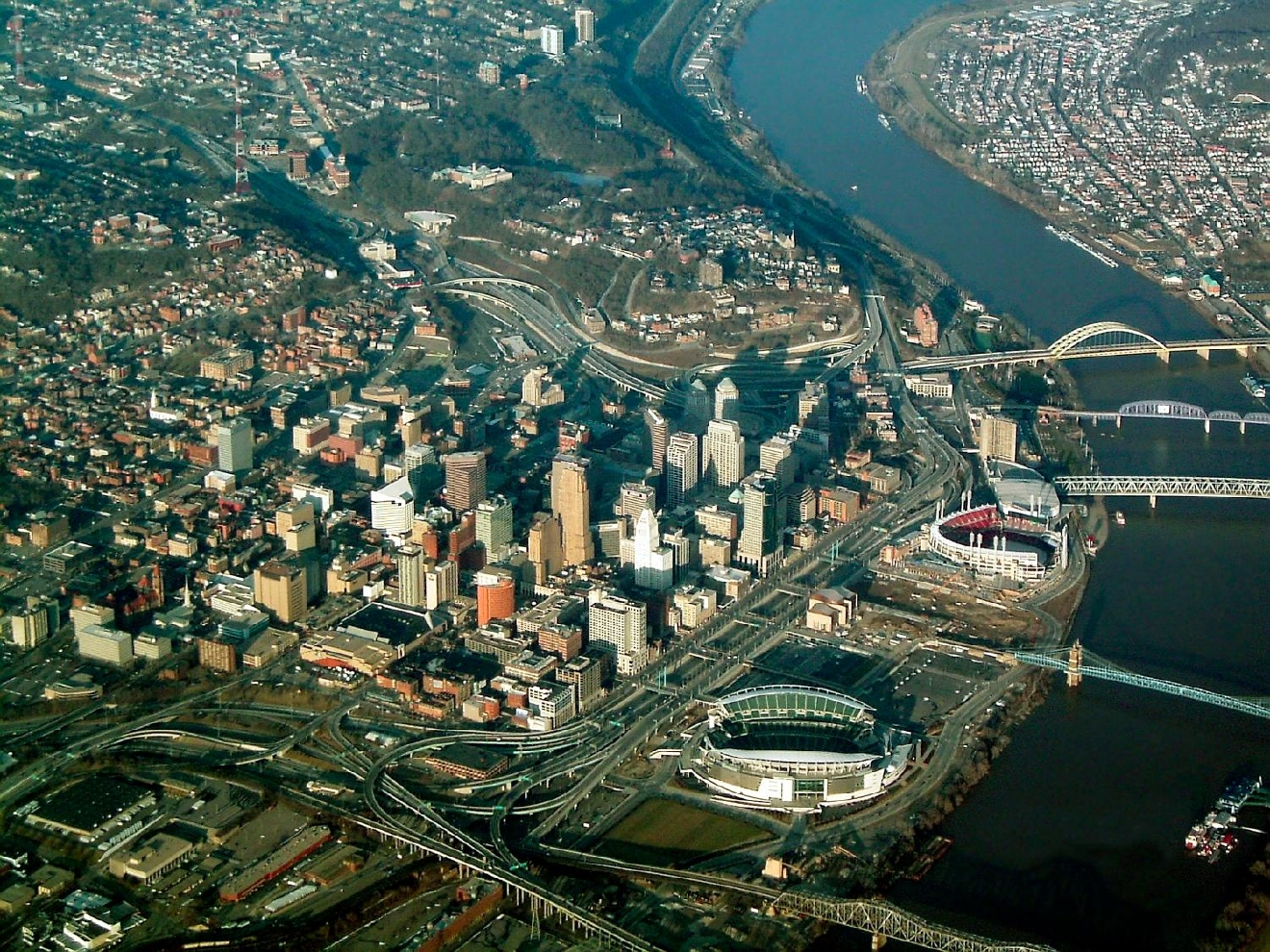 These Aerial Photos Of Cincinnati From The Past 100 Years Are Amazing Cincinnati Refined
