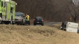HAPPENING NOW: Crash scene no longer hazmat situation; highway closed