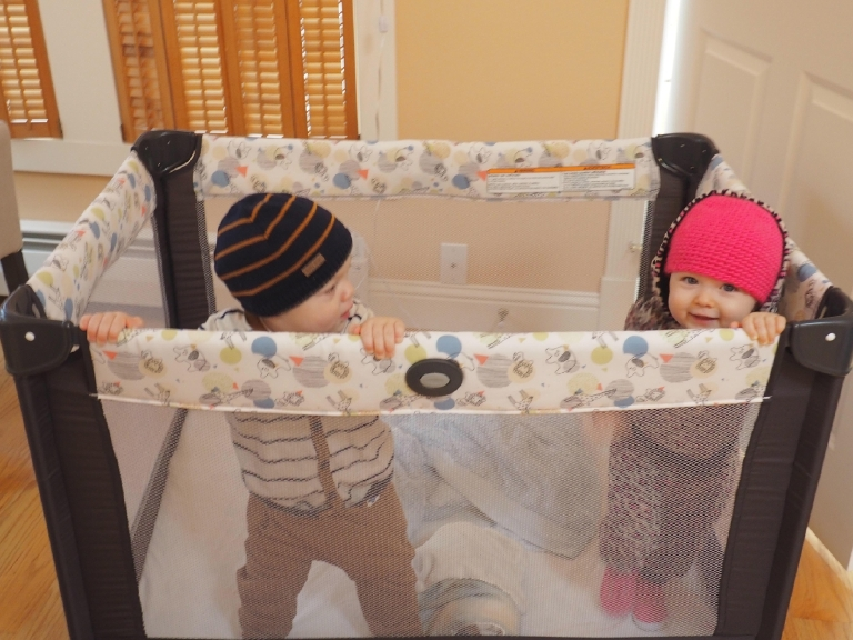 What's better than traveling with one baby?  Traveling with two - duh!  (Image: Kate Neidigh)