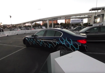 Ride in a car that drives and parks itself in a full 360 degrees