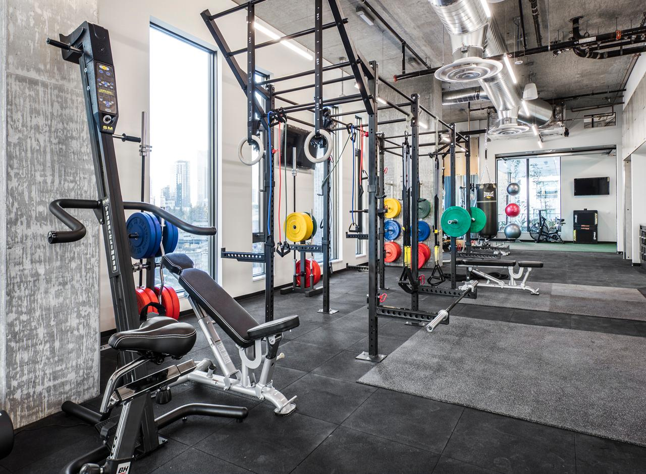 The Fitness Center features all kinds of equipment, from resistance bands to weight benches.<p></p>