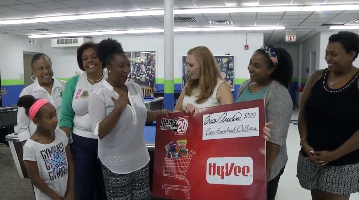 Our August winner is someone who is involved with several organizations that help inspire area youth -- Erica Austin. (WICS)