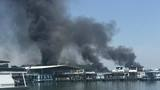 Crews battle large fire at Portman Marina in Anderson County