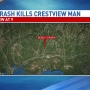 Single-vehicle crash kills Crestview man
