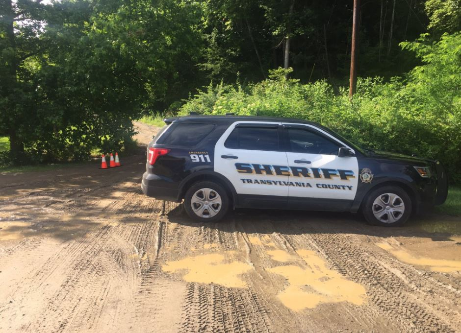 The Transylvania County Sheriff's Office was searching Thursday for a missing autistic child in Pisgah National Forest. (Photo credit: WLOS staff)