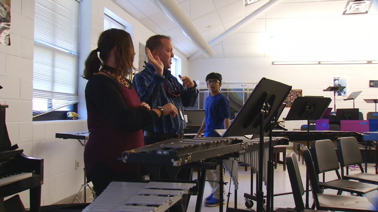 Take a look around the band room at Cane Creek Middle School, and you can see the tradition of success.  Past bands have played at Carnegie Hall, Disney World and Washington D.C., lead by band director Cliff Dodson.  (Photo credit: WLOS Staff)