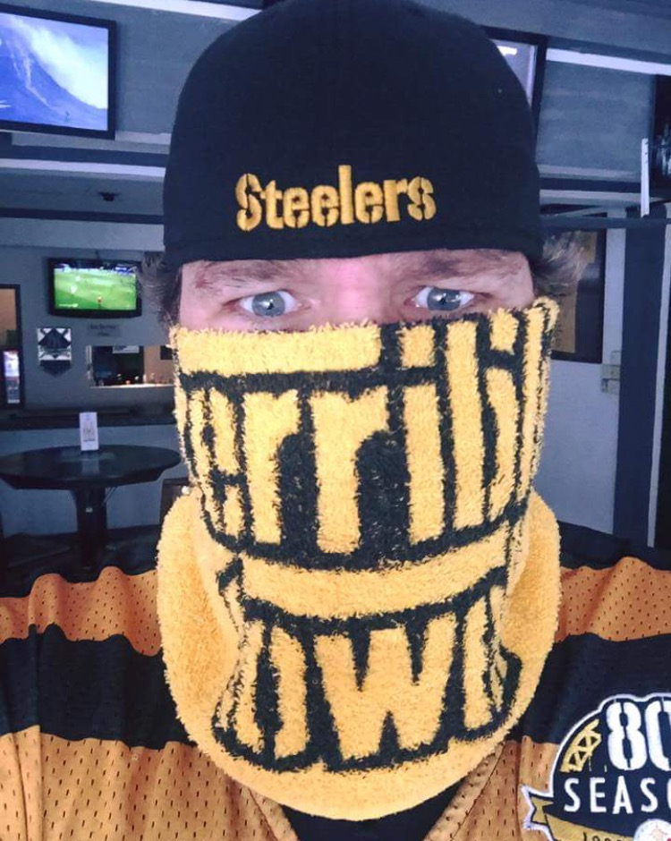 "Photo: Jeff ""Swede"" Swedenhjelm is well known for being a loyal fan of the Pittsburgh Steelers Courtesy: Lyric Swedenhjelm"