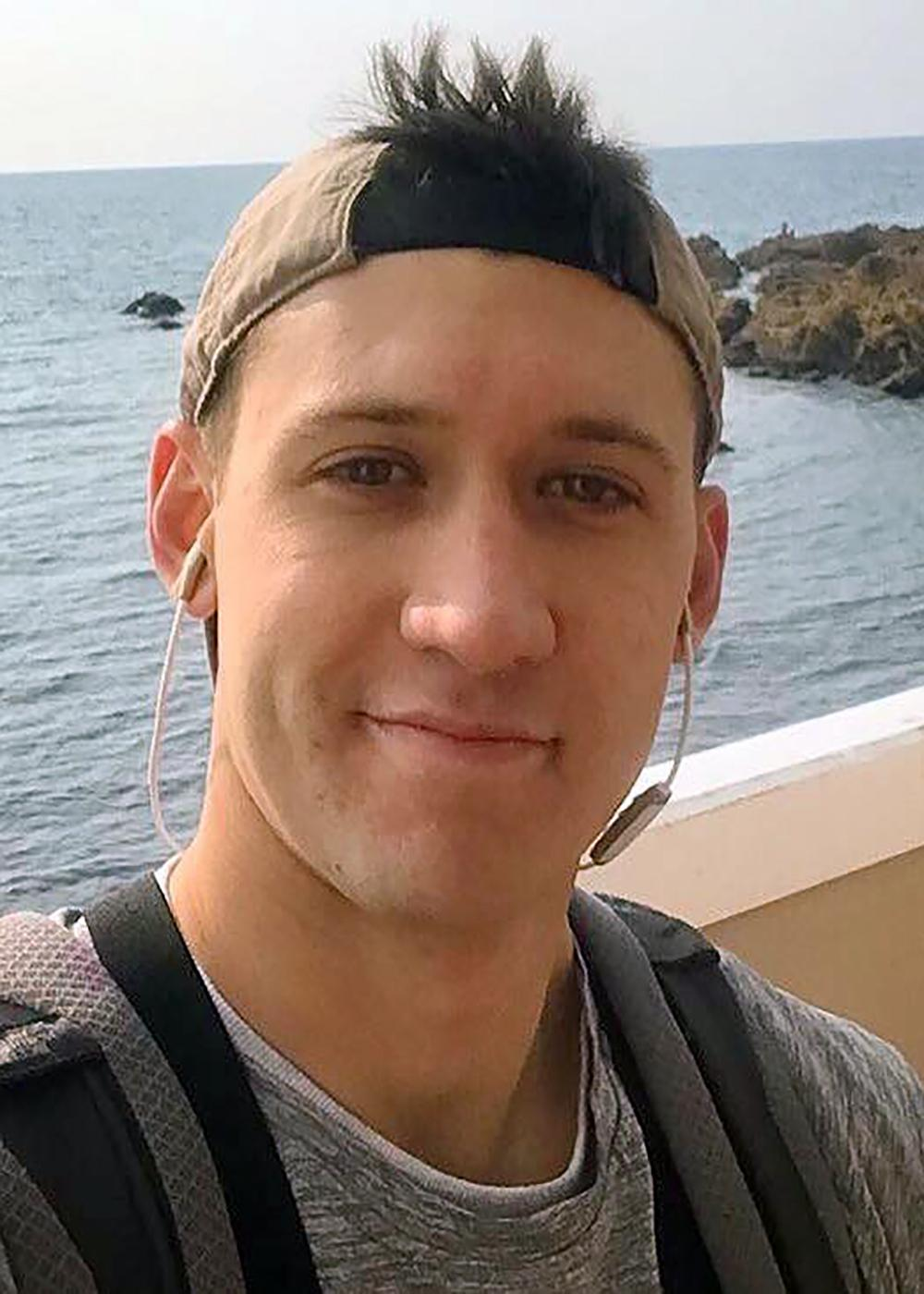 U.S. Navy file photo of Electronics Technician 3rd Class Dustin Louis Doyon, 26, from Suffield, Connecticut, who was stationed aboard USS John S. McCain (DDG 56) when it collided with the Liberian-flagged merchant vessel Alnic MC, Aug. 21. Doyon was identified as missing on Aug. 24. Navy and Marine Corps divers will continue search and recovery efforts inside flooded compartments in the ship for the missing Sailors.  (U.S. Navy photo/Released)