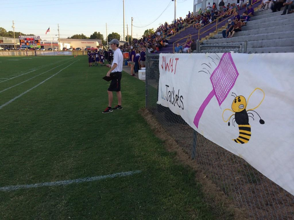 Bibb County-McAdory before kickoff Friday night, August 22, 2014.