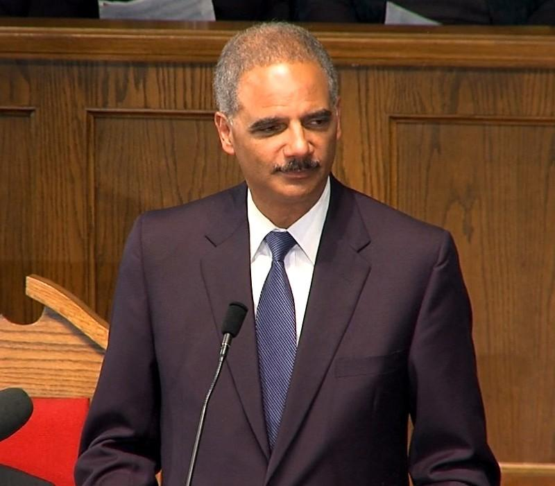 U.S. Attorney General Eric Holder speaks at 16th Street Baptist Church Sunday, September 15, 2013.