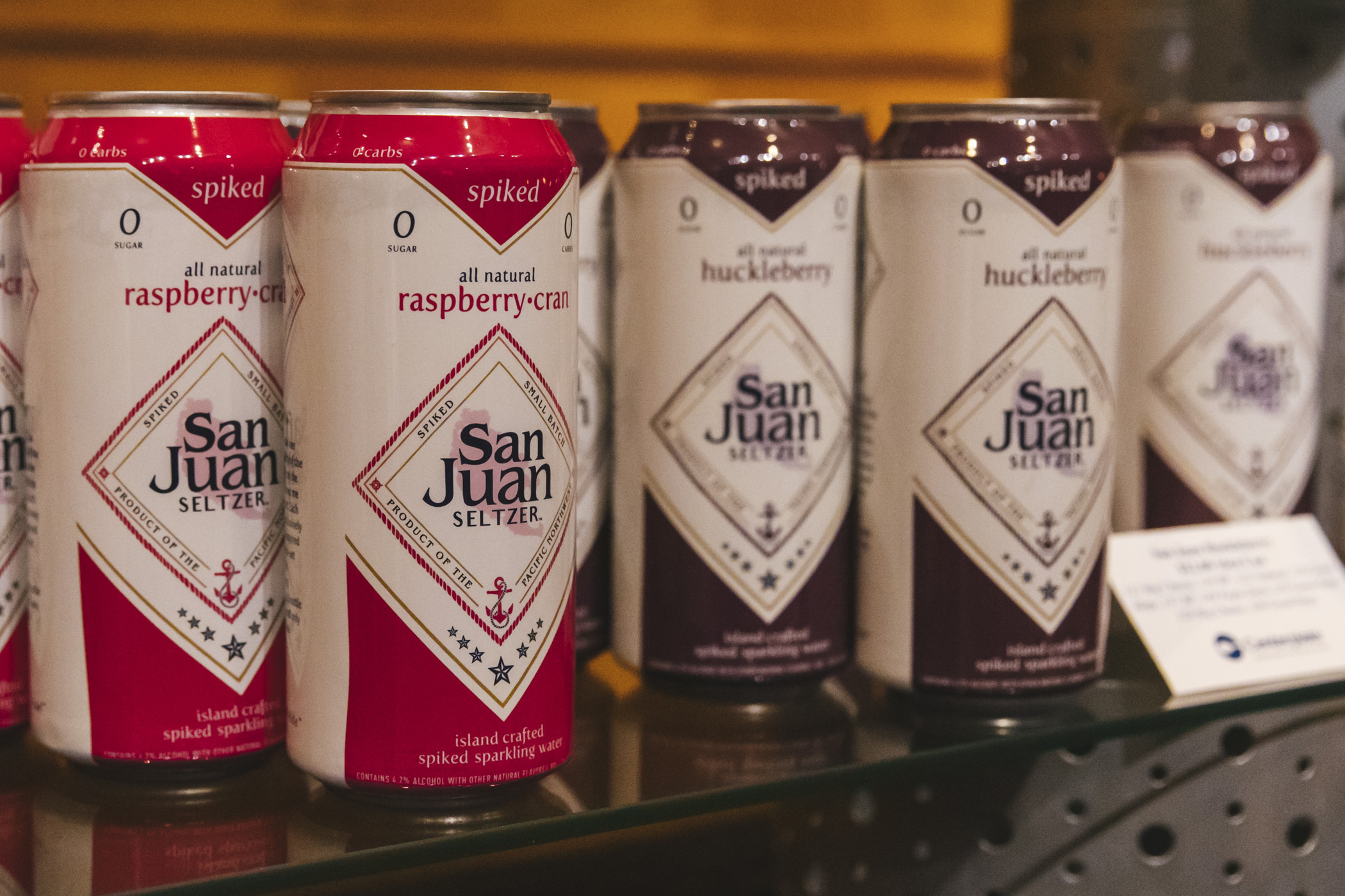 San Juan Seltzer.{ }We snuck in a little preview of the beer, wine and spirits offerings for the 2020 Seattle Mariners season at T-Mobile Park! Home Opener is March 26 at 1:10 p.m. agains the Rangers. Go M's! (Image: Sunita Martini / Seattle Refined)
