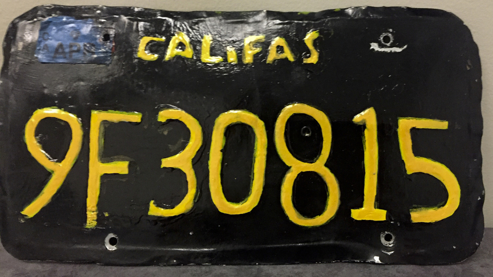 Badly-made fake license plate leads to arrest in California | KUTV