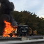 Truck catches fire on I-95