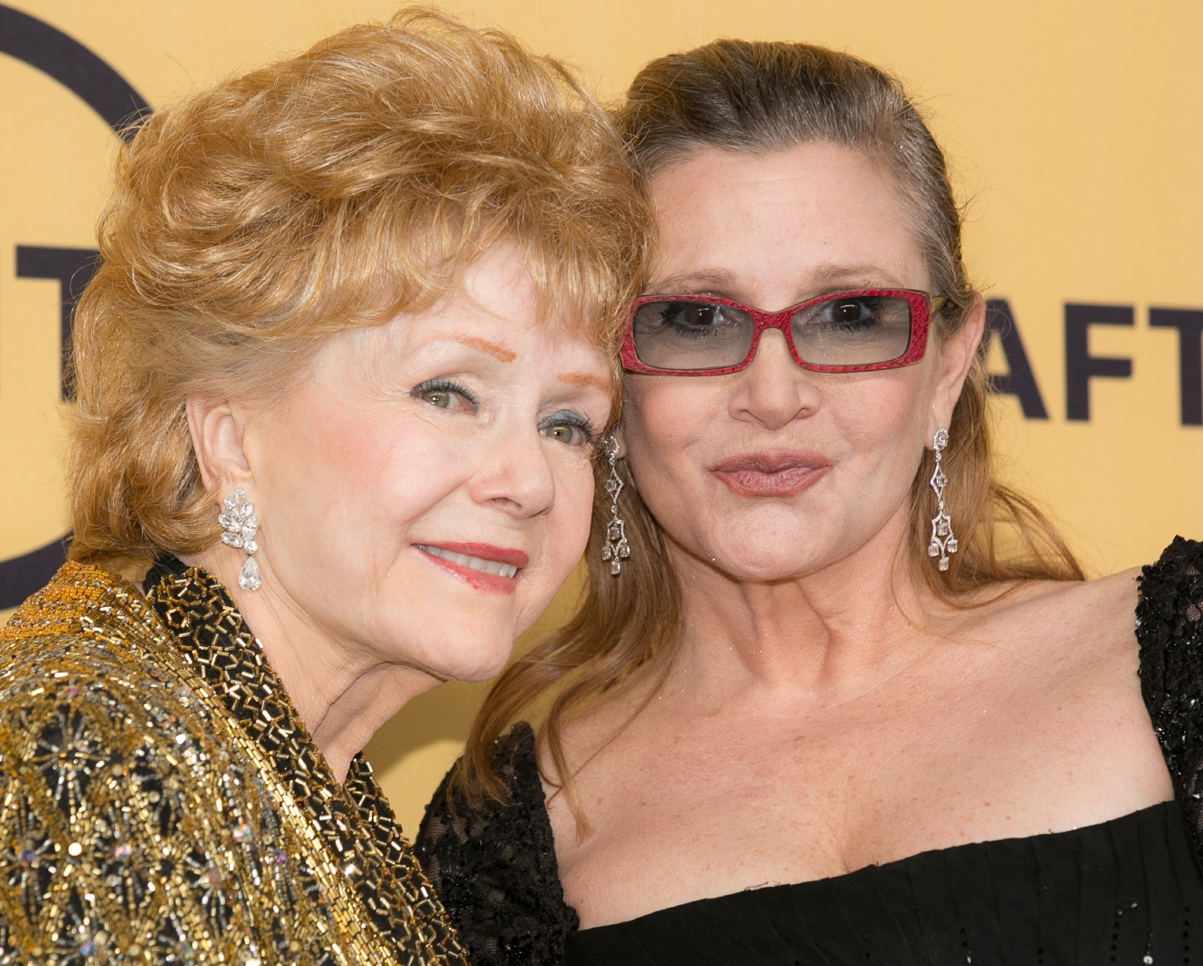21st Annual SAG Awards - Press Room at Los Angeles Shrine Exposition Center  Featuring: Debbie Reynolds, Carrie Fisher Where: Los Angeles, California, United States When: 22 Jan 2015 Credit: Brian To/WENN.com