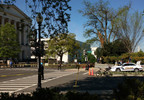 U.S. Capitol Police are on the scene after a tree fell on a man seriously injuring him near the Rayburn House office building near Capitol Hill.jpg
