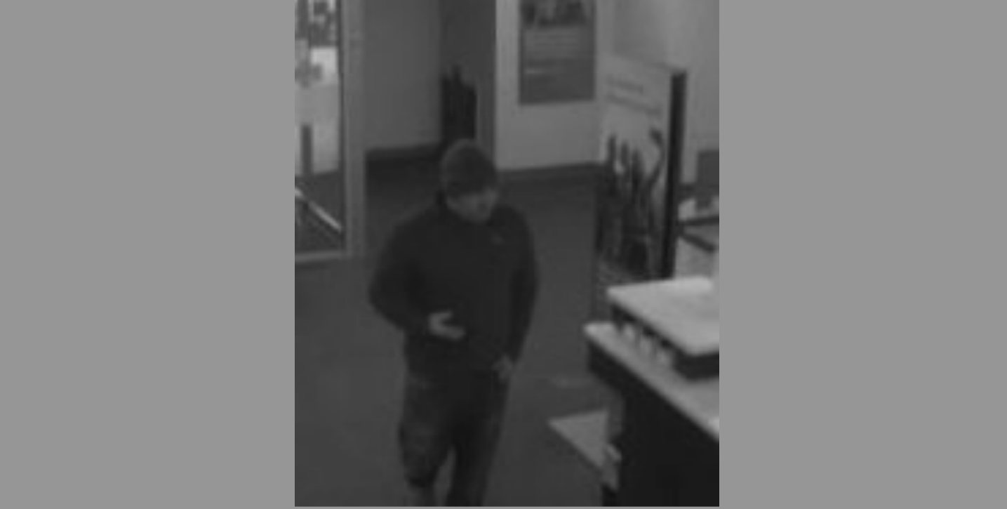 Police are searching for a man wanted for a bank robbery at a Wells Fargo Bank branch on Dec. 22, 2017 in Arlington, Va.{&amp;nbsp;} Wednesday, Jan. 3, 2018 (Arlington Police/Twitter){&amp;nbsp;}<p></p>