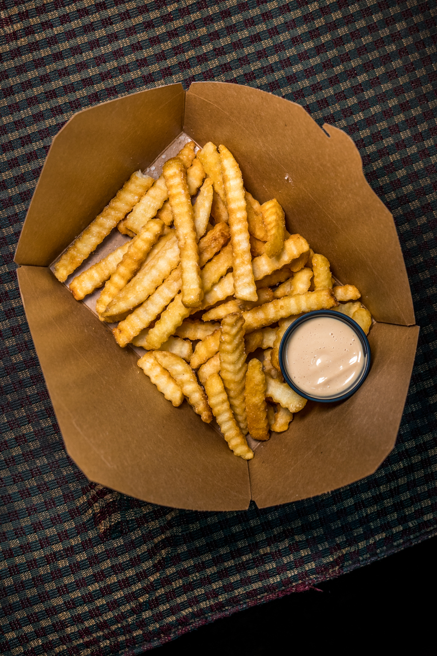 Elder Fries: krinkle cut with goose sauce / Image: Catherine Viox // Published: 5.31.20