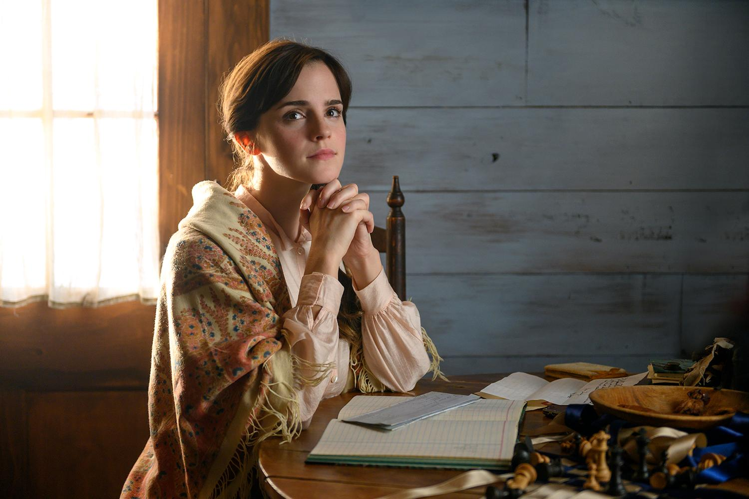 Emma Watson in Columbia Pictures' LITTLE WOMEN.{ }(Image: Wilson Webb / Sony Pictures)