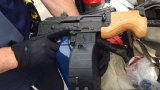 Michigan State Police seized an assault rifle on traffic stop in Flint