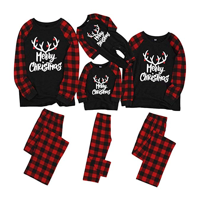 "<p>This whole-family pajama set features classic with ""Merry Christmas"" printed in long sleeved tops and red plaid printed pants, make these Pj's perfect for Christmas festivities.{&nbsp;}<a  href=""https://www.amazon.com/Yaffi-Matching-Pajamas-Christmas-Loungewear/dp/B07YCJ7KNW/ref=sr_1_5?crid=CN6N0M58HNKD&dchild=1&keywords=matching+family+christmas+pajamas+sets&qid=1575772512&sprefix=matching+f%2Caps%2C234&sr=8-5"" target=""_blank"" title=""https://www.amazon.com/Yaffi-Matching-Pajamas-Christmas-Loungewear/dp/B07YCJ7KNW/ref=sr_1_5?crid=CN6N0M58HNKD&dchild=1&keywords=matching+family+christmas+pajamas+sets&qid=1575772512&sprefix=matching+f%2Caps%2C234&sr=8-5"">Shop it{&nbsp;}</a>$12.99-$29.99 (Image: Amazon){&nbsp;}</p>"