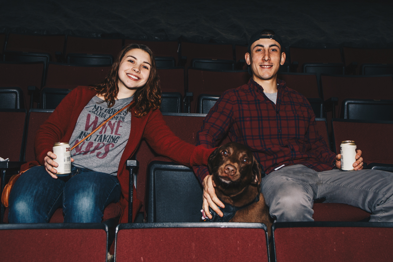 Zoey with humans Amber & Brandon Sanchez / Image: Catherine Viox // Published: 3.21.19