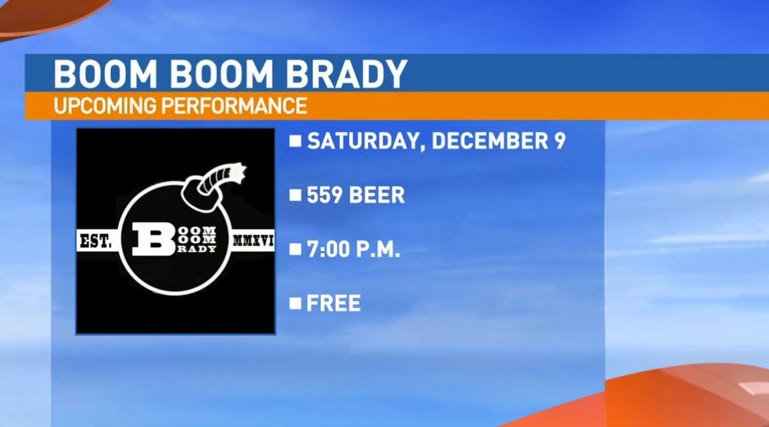 Boom Boom Brady is performing live Saturday at 356 Tavern in old town Clovis, the new home of 559 Beer.